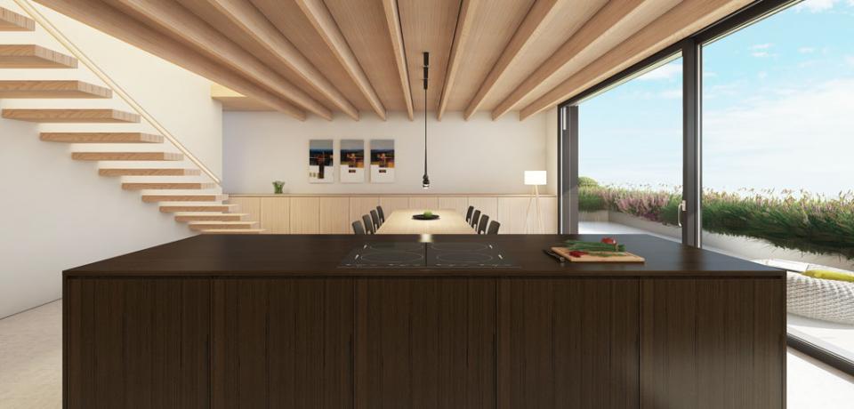 Cucina Moderna Con Tetto In Legno.Case Moderne Con Tetto In Legno Bianco